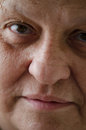 Close up face old woman Royalty Free Stock Images
