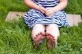 Close Up Of Feet Of Little Gir...