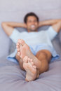 Close up of feet man Stock Image