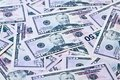Close up of fifty dollar bills Royalty Free Stock Image