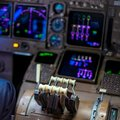 Close Up Of Flight Controls In...