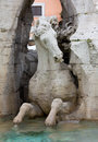 Close up on fontana dei quattro fiumi in rome Stock Images
