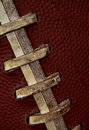 Close up of football laces Royalty Free Stock Photos