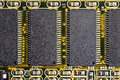 Close-up of four computer chips Royalty Free Stock Images