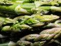 Close-up on fresh, green asparagus