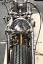 Close up of front spring suspension vintage bike Stock Photo