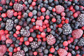 Close up of frozen mixed fruit Royalty Free Stock Photo