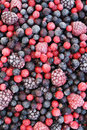 Close up of frozen mixed fruit  - berries Royalty Free Stock Photo