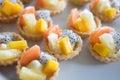 Close up fruit tart Royalty Free Stock Photo