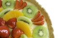 Close up of a fruit tart Royalty Free Stock Photo