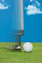 Close up of a golfer's putter Royalty Free Stock Photo