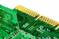 Close up of a green printed circuit board Stock Photography
