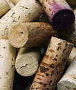 Close up group high quality wine corks Stock Photography