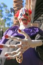 Close up Halloween party horror clown. Royalty Free Stock Photo