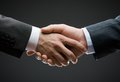 Close up of hand shake business people concept trustworthy relations and business cooperation Royalty Free Stock Photo