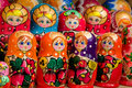 Close up of handmade russian matryoshka Stock Photography
