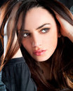 Close up happy pretty young woman posing Royalty Free Stock Photo