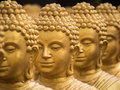 Close-up on head buddha statue.