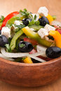 Close up healthy greek salad Stock Image