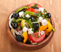 Close up healthy greek salad Royalty Free Stock Images