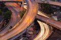 Close up highway interconnection long exposure Stock Image