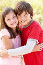 Close up of hispanic children Royalty Free Stock Photo