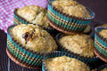 Close up homemade muffins in kitchen Stock Images