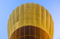 Close up of hot air balloon on blue sky Royalty Free Stock Photo