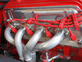 Close-up of a hotrod engine side. Royalty Free Stock Photos