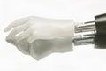 Close-up of humanoid robot hand