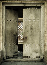 Close-up image of ancient doors Royalty Free Stock Image