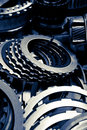 Close up image automobile gear assembly background Stock Images