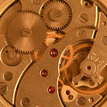 Close up image clock mechanism Stock Photo