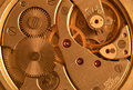 Close up image clock mechanism Royalty Free Stock Photography
