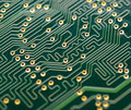 Close up Image of Electronic Circuit Board. Computer Technology Concept Background Royalty Free Stock Photo