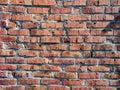 Close-up image of an old brick wall. Royalty Free Stock Photo