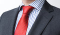 Close-up image of a red tie knot Royalty Free Stock Photos