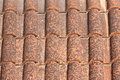 Close up image on very old roof tiles background Royalty Free Stock Photo
