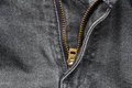Close up of jeans zipper Royalty Free Stock Photo