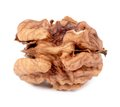 Close up of kernel walnut. Royalty Free Stock Photo