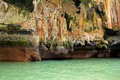 Close-up Ko Tapu island in Thailand Stock Photography