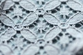 Close up of lace textile or fabric background Royalty Free Stock Photo