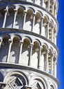 Close-up Leaning Tower of Pisa. Royalty Free Stock Photography