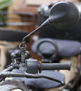 Close up left handle of modern motorcycle Royalty Free Stock Photo