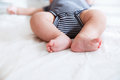 Close-up legs of a newborn baby Royalty Free Stock Photo
