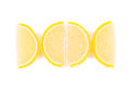 Close up of lemon segments fruit jelly Stock Images