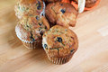 Close up look at fresh blueberry muffins Royalty Free Stock Images