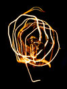 Close up looping carbon filament of vintage edison light bulb the Royalty Free Stock Images