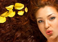 Close-up luxury face Royalty Free Stock Photo