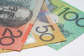 Close Up Macro Australian Notes Money Royalty Free Stock Photo